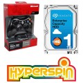 1TB Preconfigured Hyperspin Hard Drive INTERNAL with Microsoft Xbox Wireless Controller & Receiver